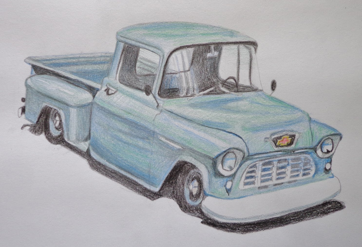 1486x1017 Speed Drawing Of A Truck