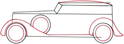400x142 2. Draw Wheels And Fenders
