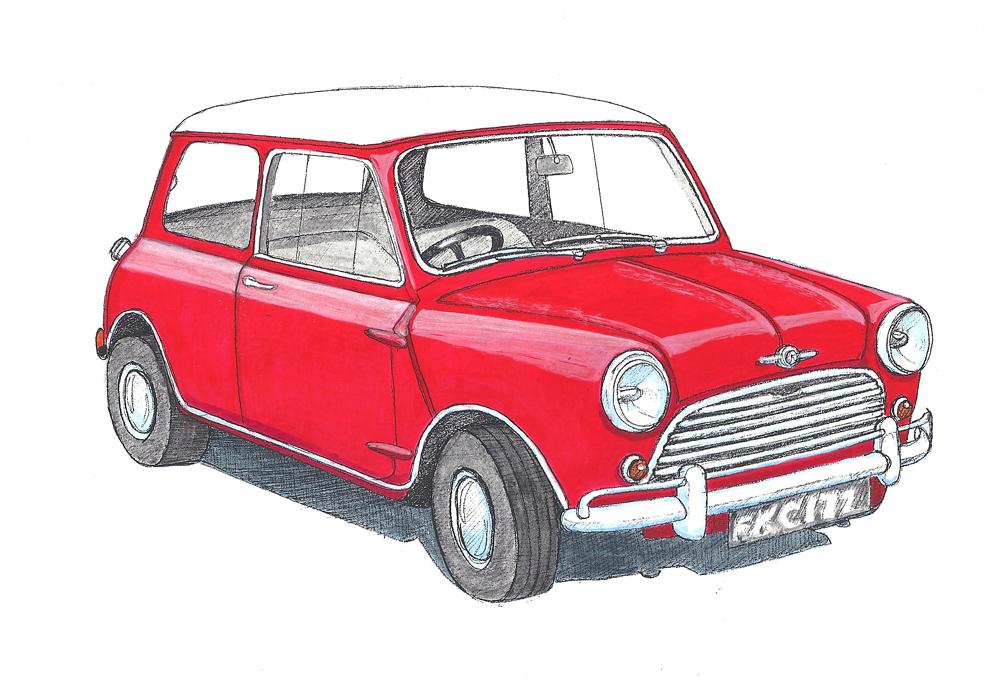 1000x689 Classic British Car Drawings Bob Stokes Cartoons Blog