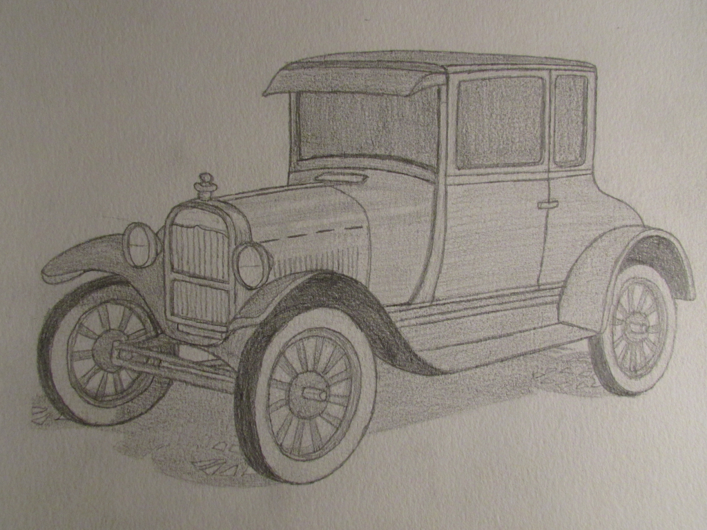 Old Cars Drawing at GetDrawings.com | Free for personal use Old Cars ...