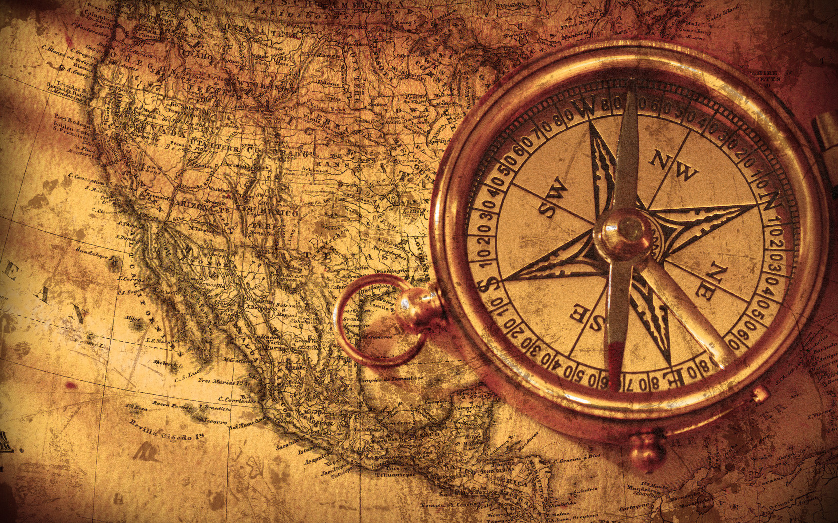 1680x1050 vintage compass by hourglassthorne on deviantart