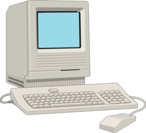 298x270 Old Computer Clipart