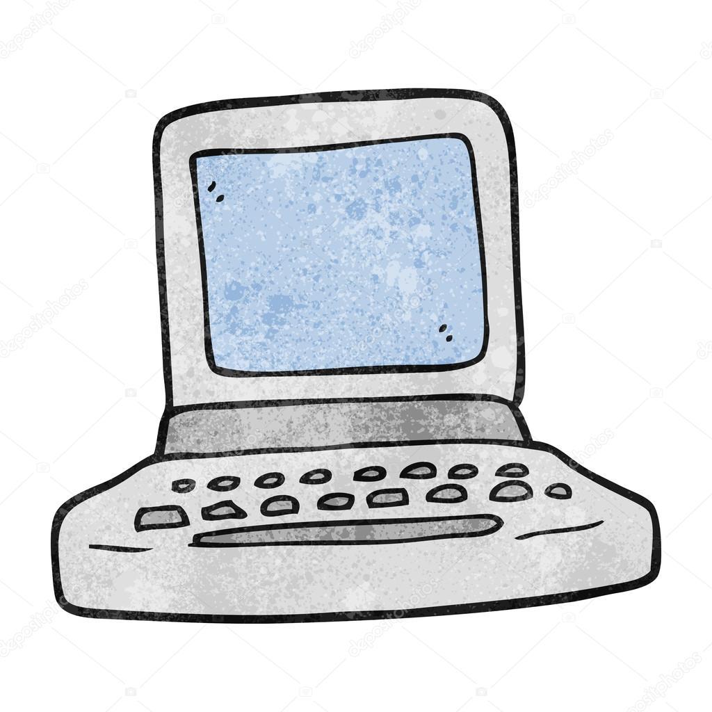 1024x1024 Textured Cartoon Old Computer Stock Vector Lineartestpilot