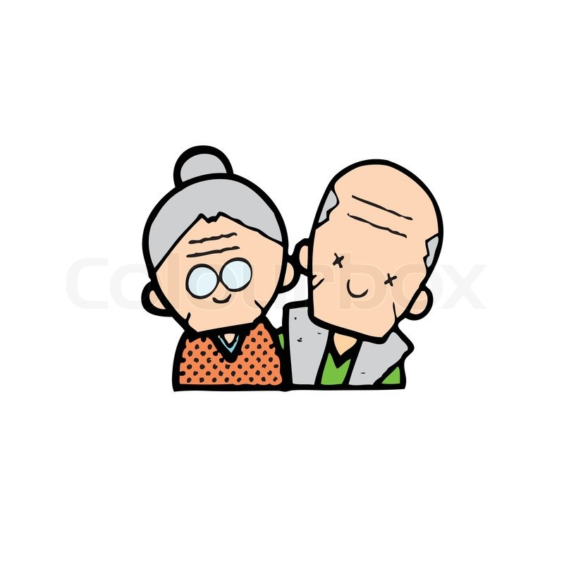 Image of: Cute Cartoon 800x800 Happy Old Couple Of Frame On White Background Stock Vector Getdrawingscom Old Couple Drawing At Getdrawingscom Free For Personal Use Old