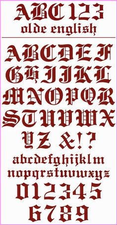 236x452 German Gothic Font Unmounted Rubber Stamp Sheet Calligraphy