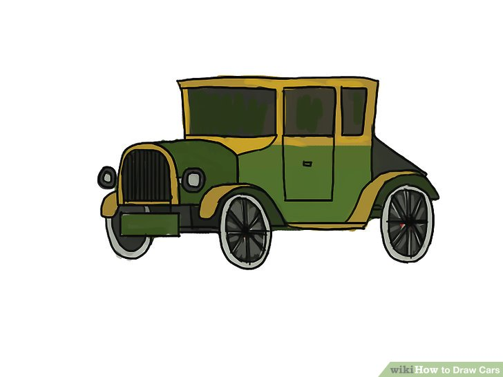728x546 4 Easy Ways To Draw Cars (With Pictures)