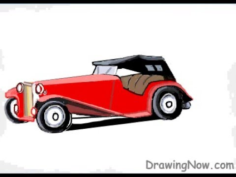 480x360 How To Draw A Vintage Car