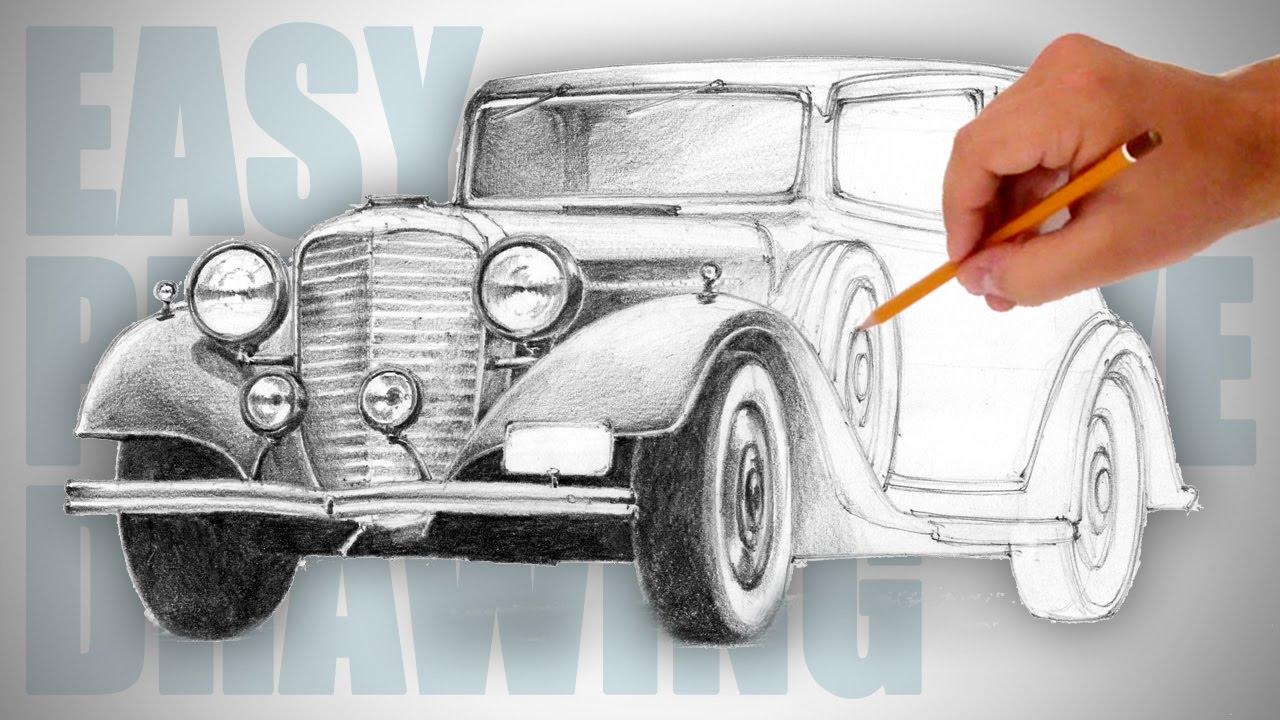 1280x720 How To Draw A Retro Car