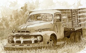 300x187 Ford Truck Drawings Fine Art America