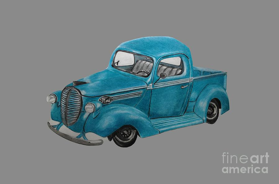 Old Ford Truck Drawing at GetDrawings.com | Free for personal use ...