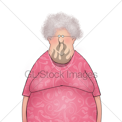 500x500 Cartoon Of A Happy Smiling Old Lady Gl Stock Images