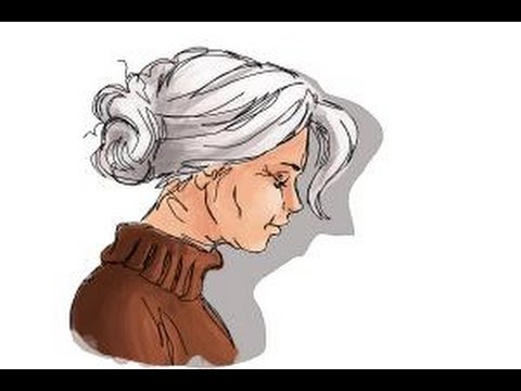 480x360 How To Draw An Old Woman