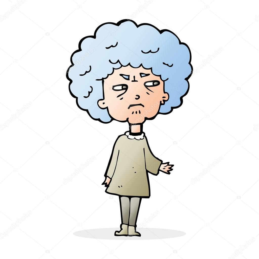 1024x1024 Cartoon Old Lady Stock Vector Lineartestpilot