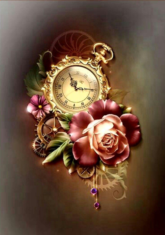 859x1228 Vintage Pocket Watch Amp Roses. Vintage Pocket