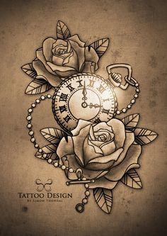 236x333 Vintage Pocket Watch Hourglass Amp Pocket Watch Tattoos