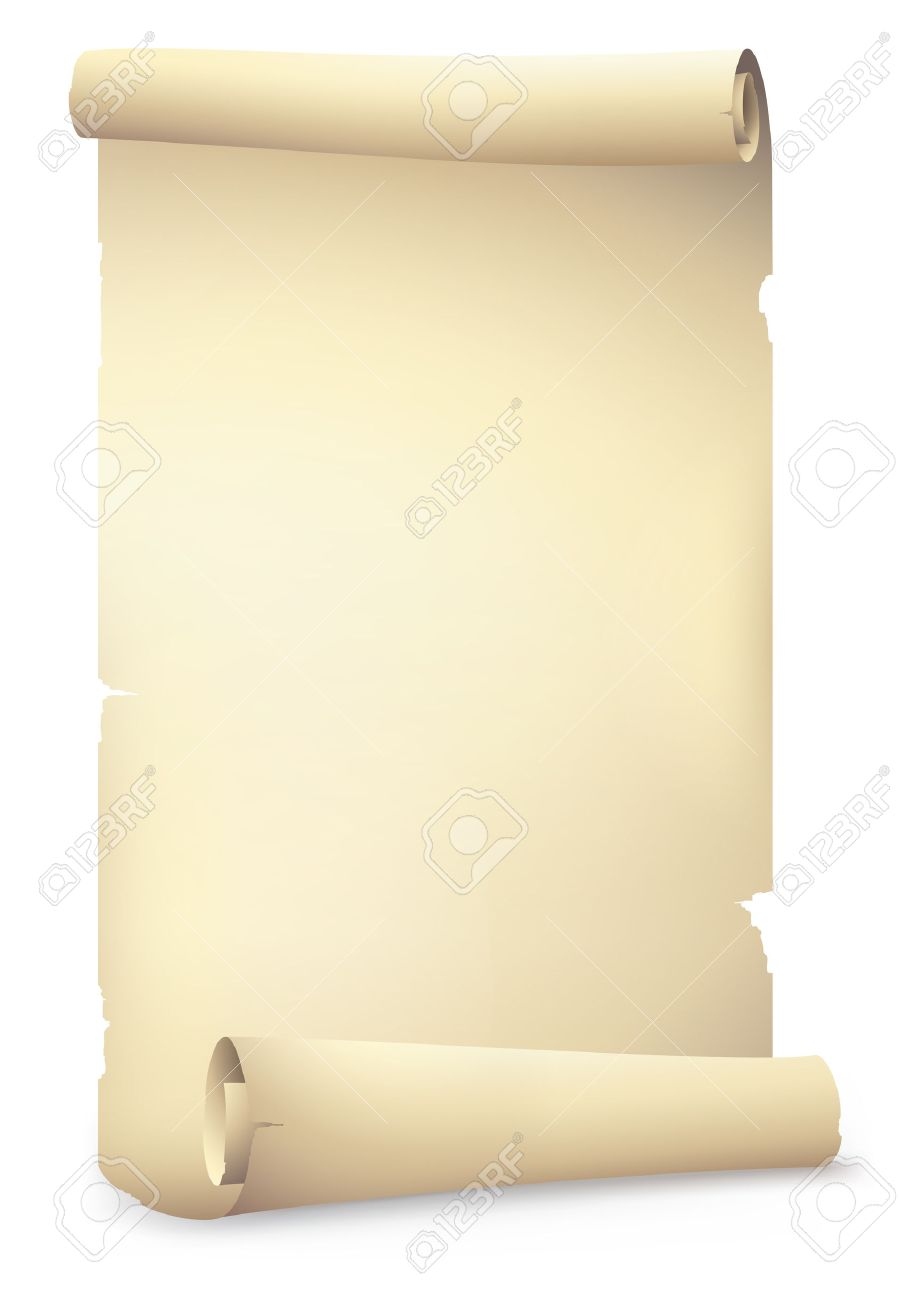 915x1300 Old Scroll Paper Banners , Vector Drawing Royalty Free Cliparts