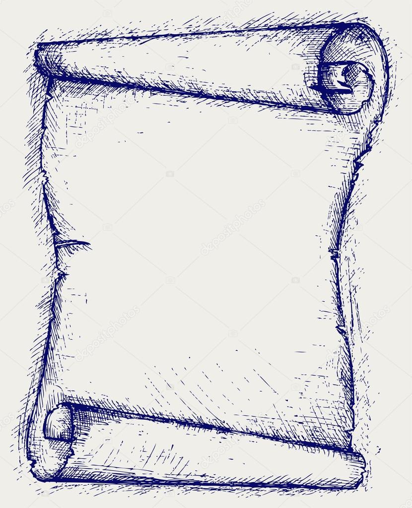 830x1024 Old Scroll Stock Vector Kreativ