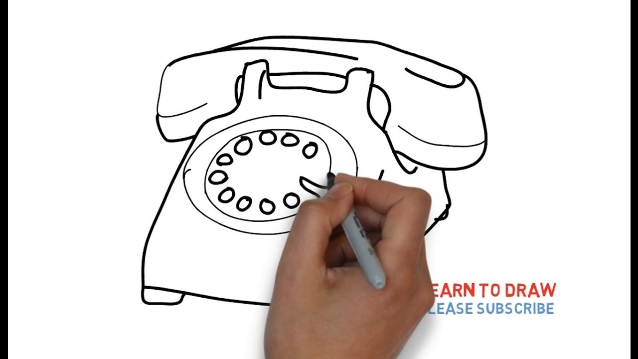 1280x720 How To Draw An Old Phone Step By For Kids