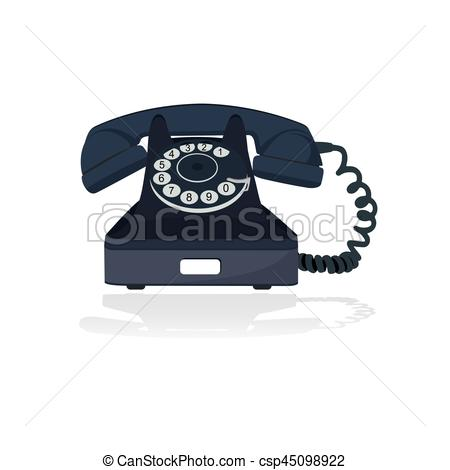 450x470 Old Telephone, Vector Illustration Vector Illustration