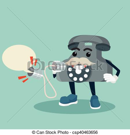 450x470 Old Telephone Shouting On Can Phone Clipart Vector