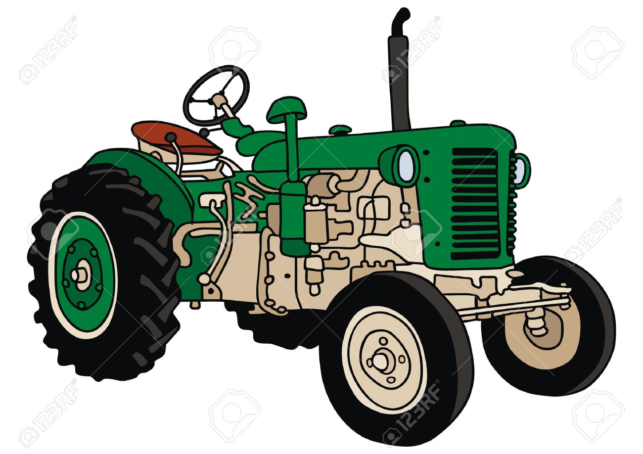 Ford Tractor Cartoon : Old tractor drawing at getdrawings free for personal