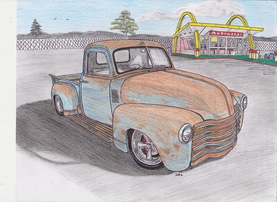 classic chevy truck drawings