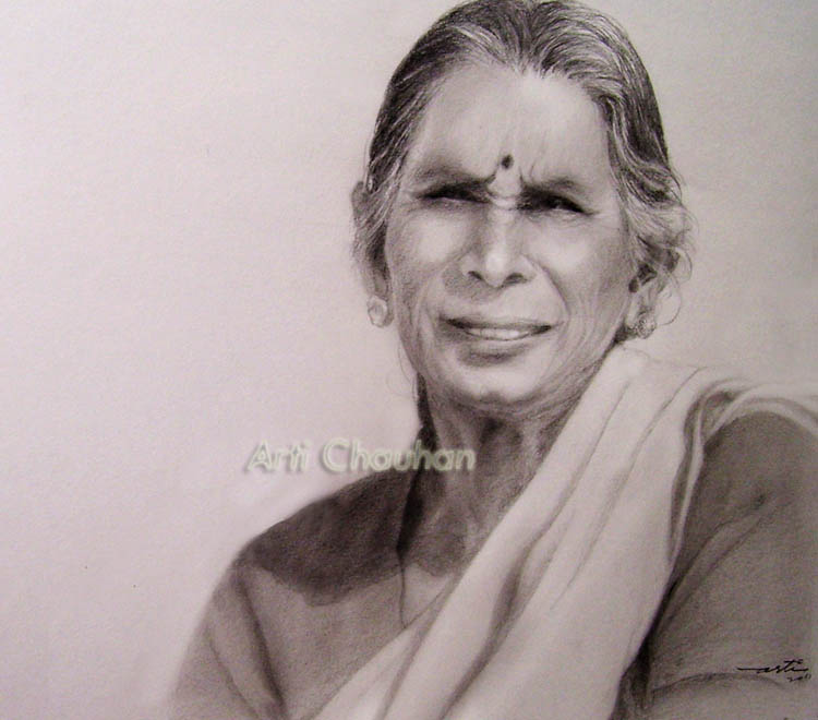 750x660 Pencil Art By Arti The Woman