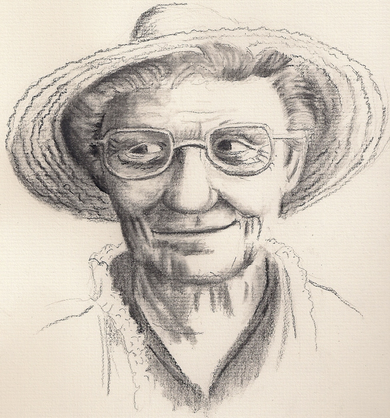 1325x1419 Portraits By Adron Charcoal Drawing Of An Old Woman In A Hat