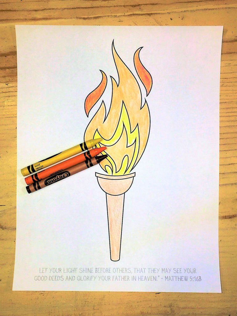 768x1024 Olympic Torch Coloring Page For Kids Children's Ministry Deals