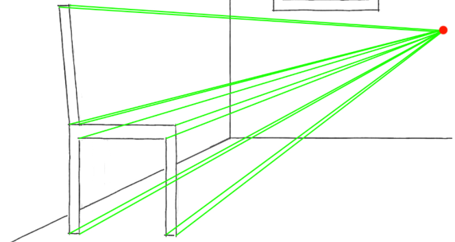 664x354 Drawing A One Point Perspective Room Tutorial