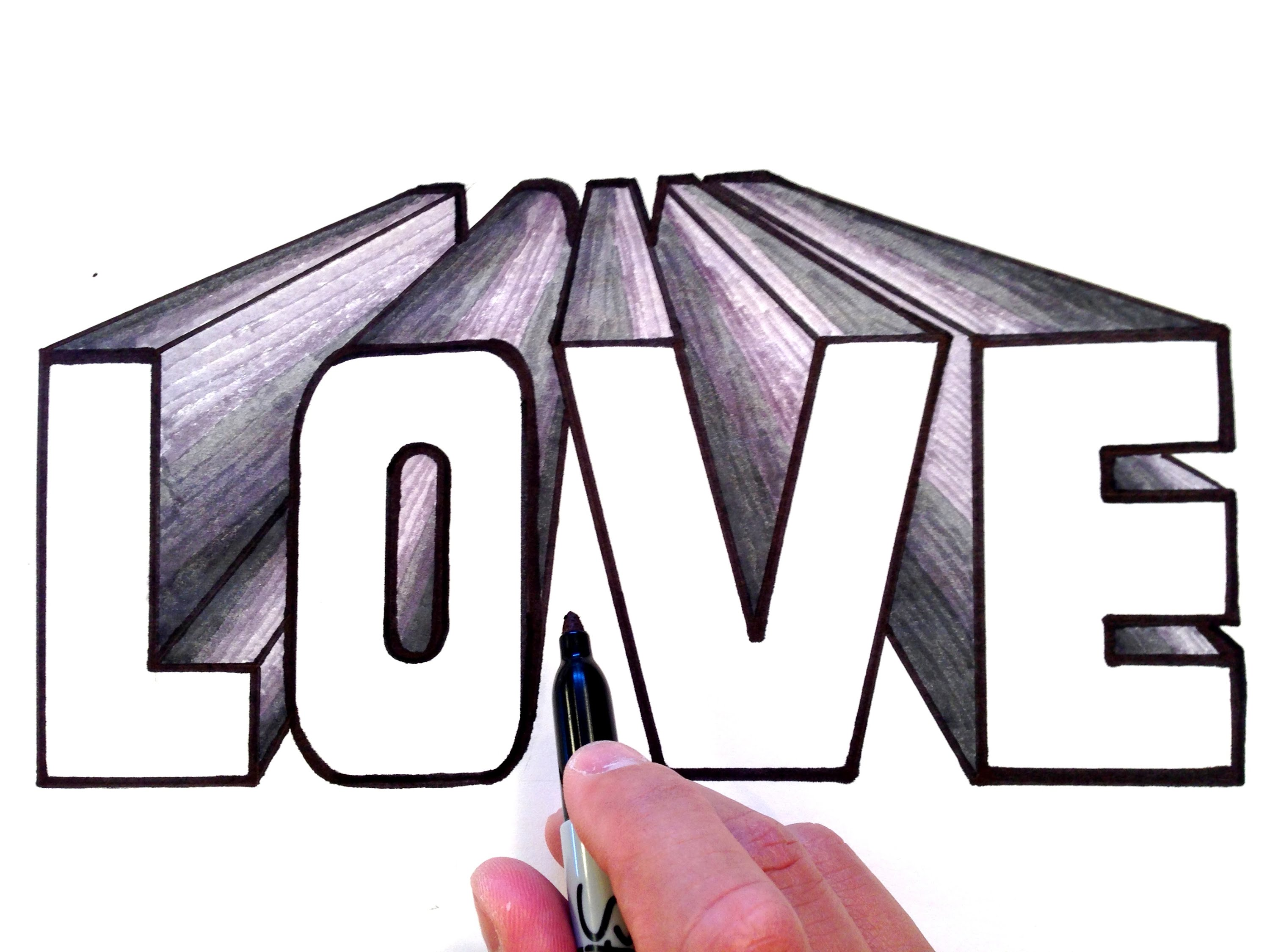 3000x2250 How To Draw Love In 3d One Point Perspective