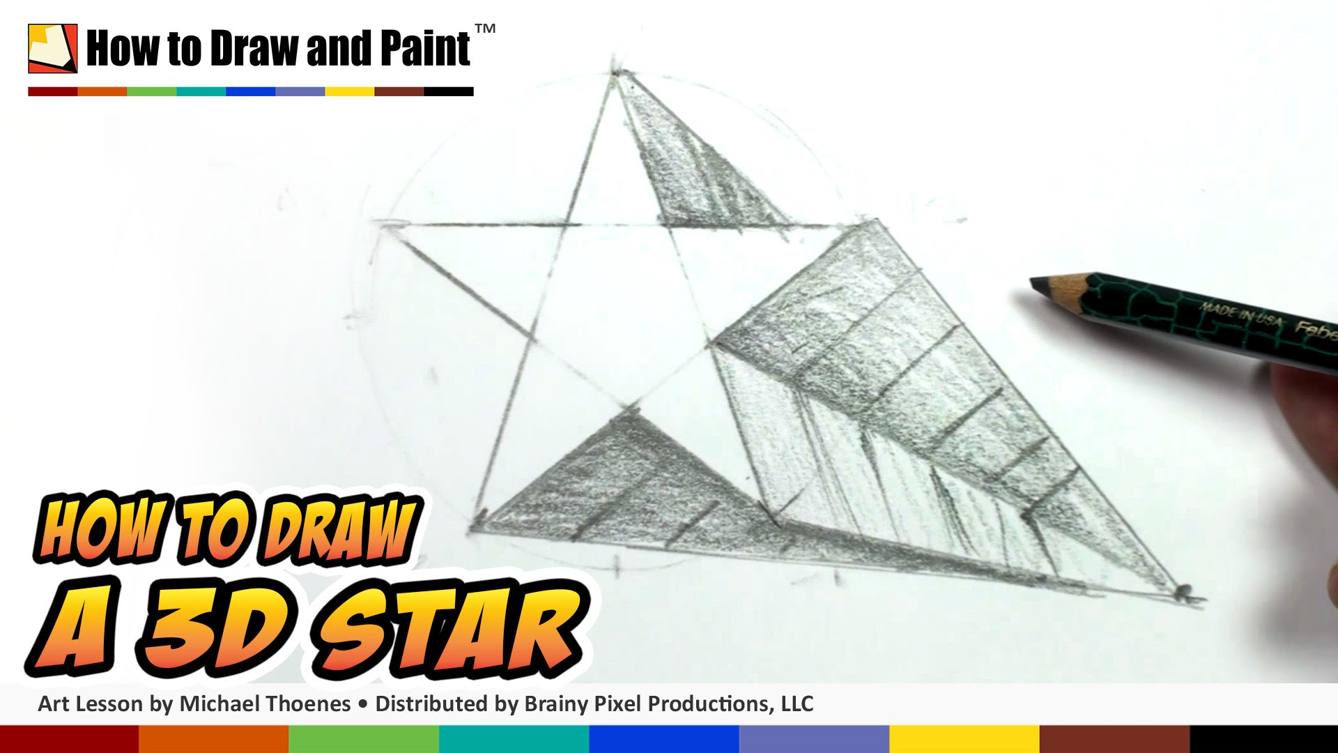 1920x1080 How To Draw A 3d Star Shape