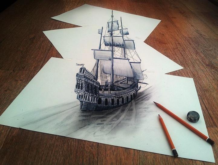 721x545 Ramon Bruin's Three Dimensional Drawings Empty Lighthouse Magazine