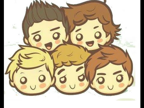 480x360 Drawing One Direction Faces Cartoon Style!