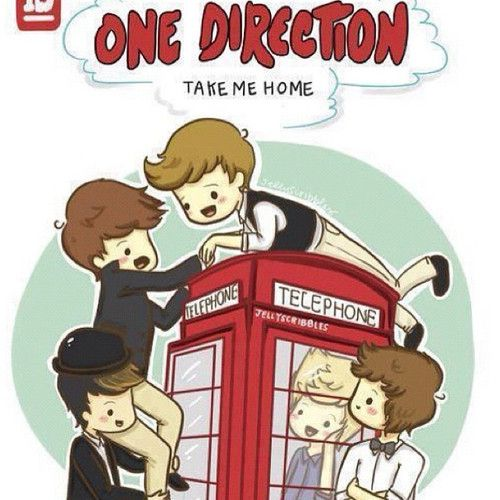 500x500 One Direction Cartoon Aww!!!!! How Cute Is This Cartoon Drawing