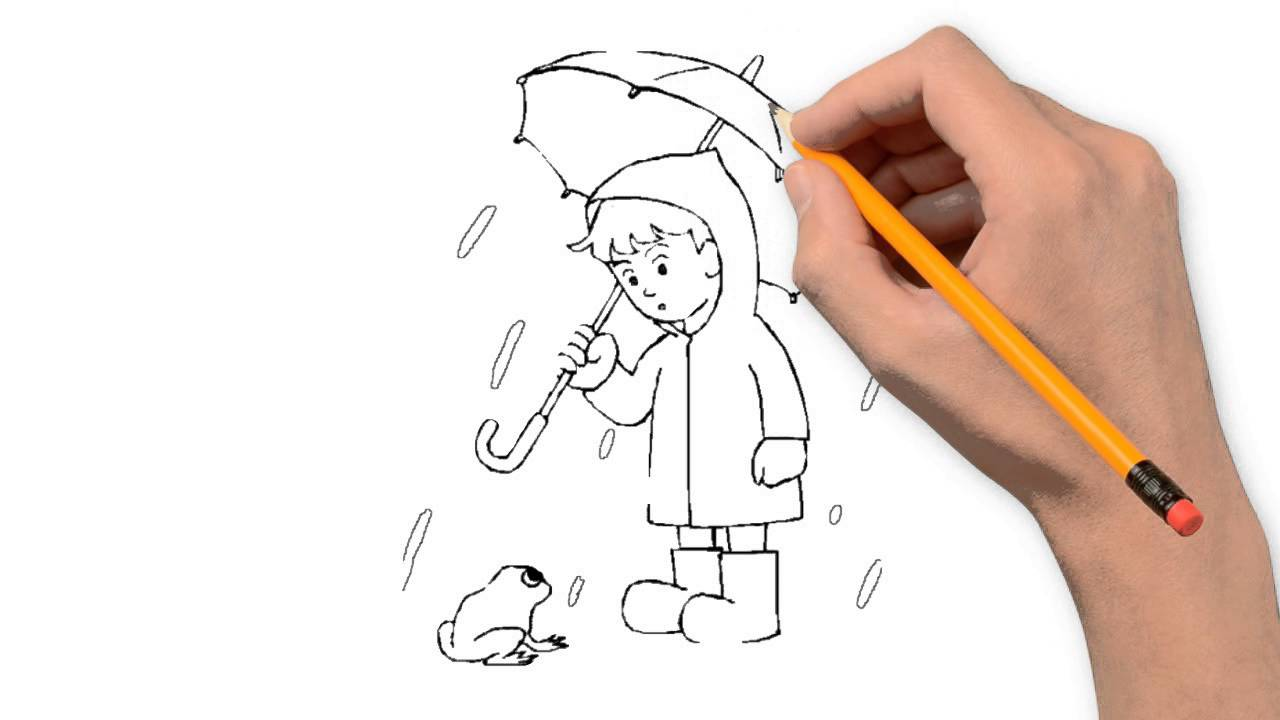 1280x720 Rain Nature Pencil To Draw Step By Step