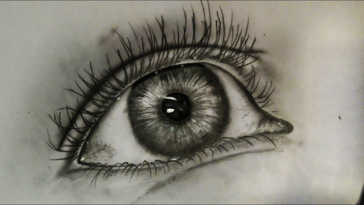 1280x720 Drawing An Eye With Only One Pencil