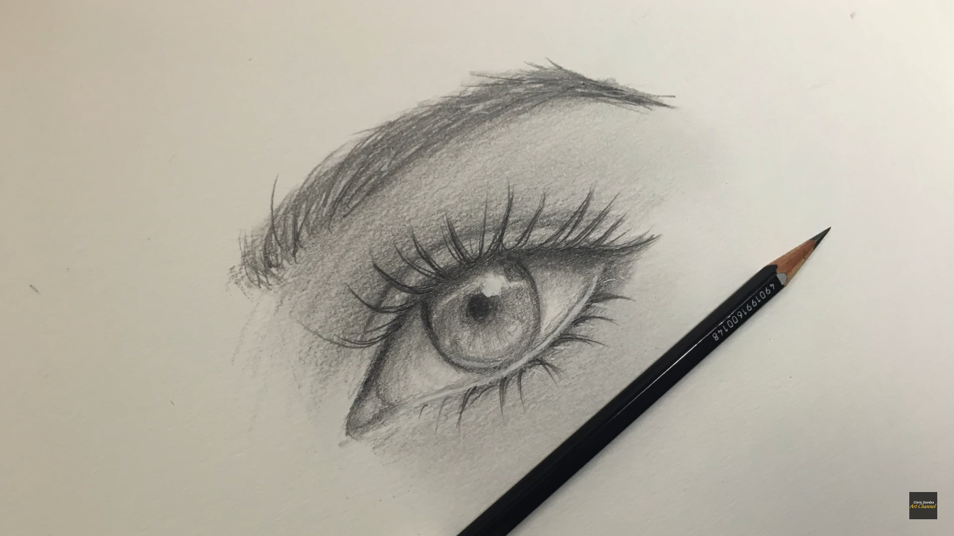 1366x768 Drawing An Eye With Only One Pencil. Follow Art Channel Instagram