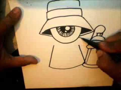 480x360 How To Draw One Eye Gangsta With A Spraycan And A Marker