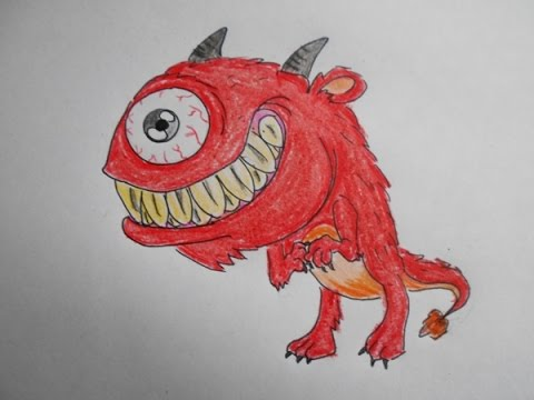 480x360 How To Draw A One Eye Devil Character (Realistic Drawings)