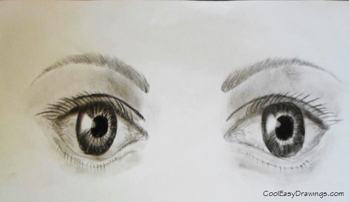 690x400 Human Eye Drawing With Only One Eye Open