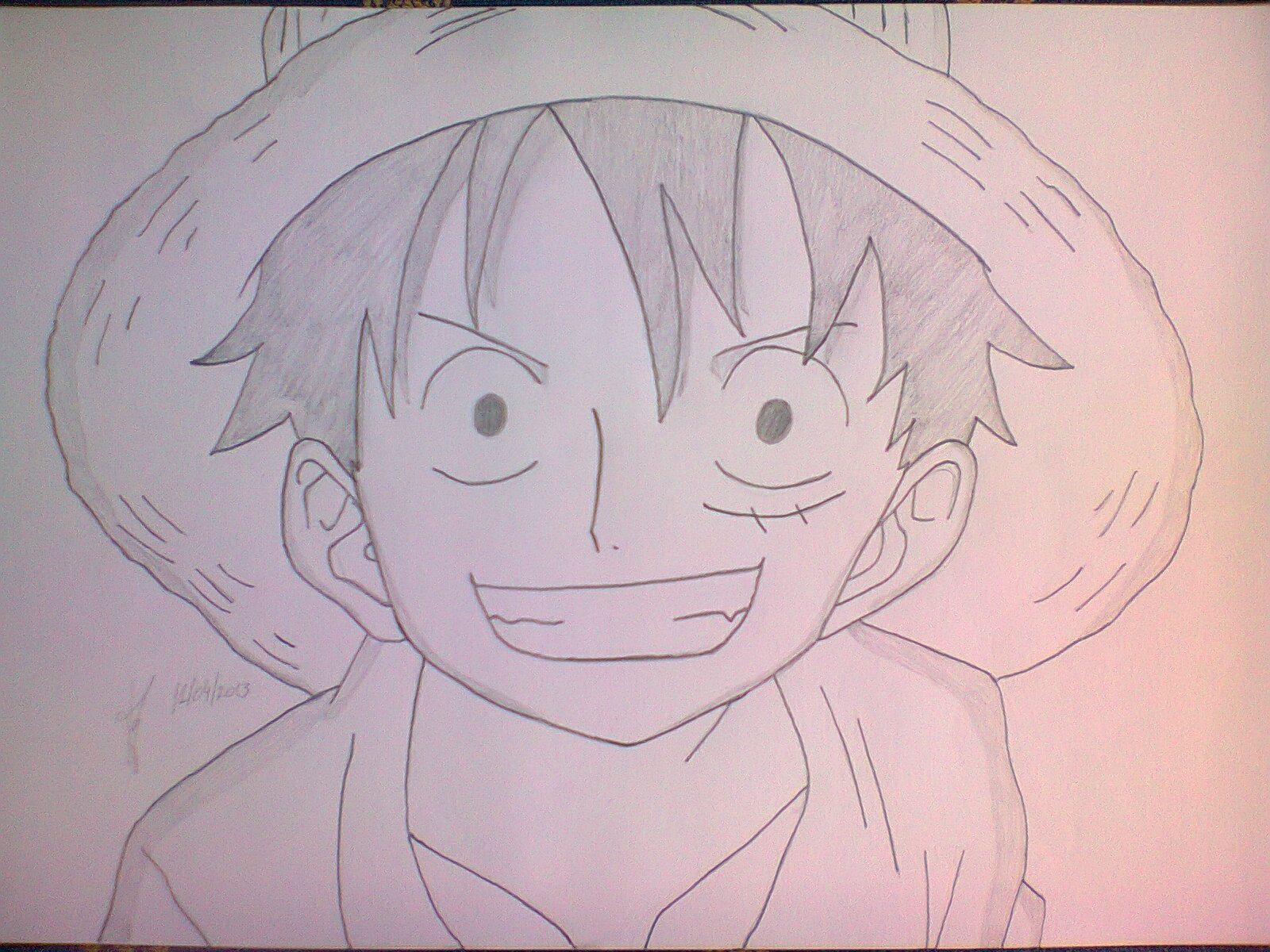 1600x1200 One Piece Easy Drawings One Piece Drawing