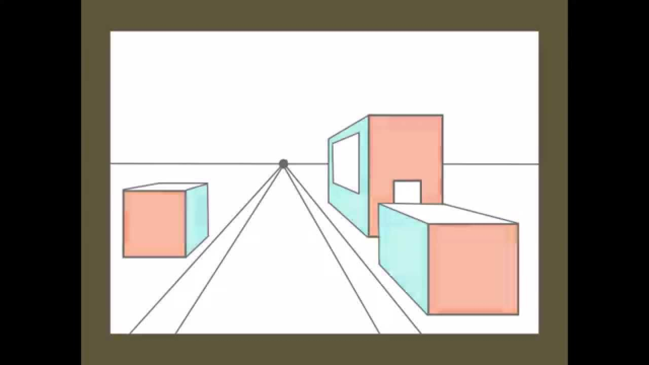 1280x720 1 Point Perspective City Drawing Tutorial