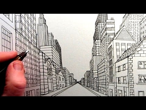 480x360 How To Draw A City Street View In One Point Perspective Tl