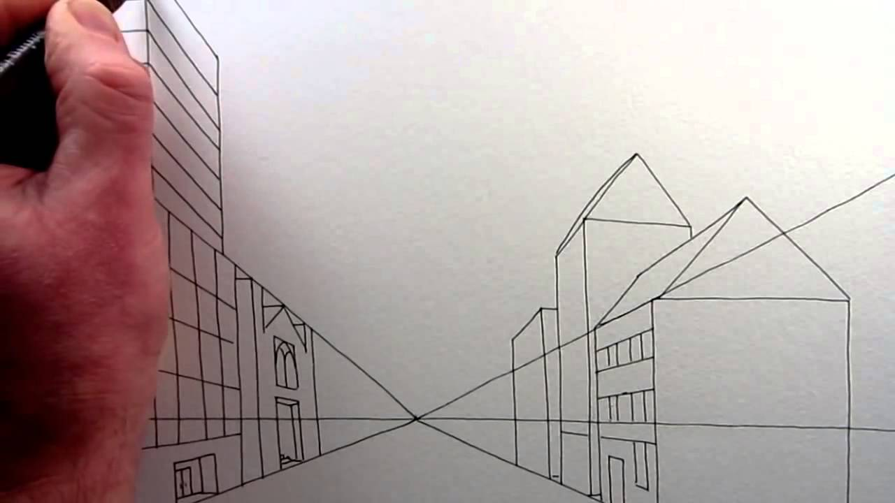 1280x720 How To Draw A City Street In One Point Perspective Narrated