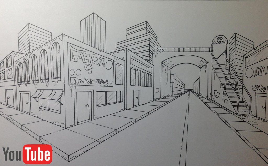 1024x636 Two Point Perspective Cityscape By Akium Architecture