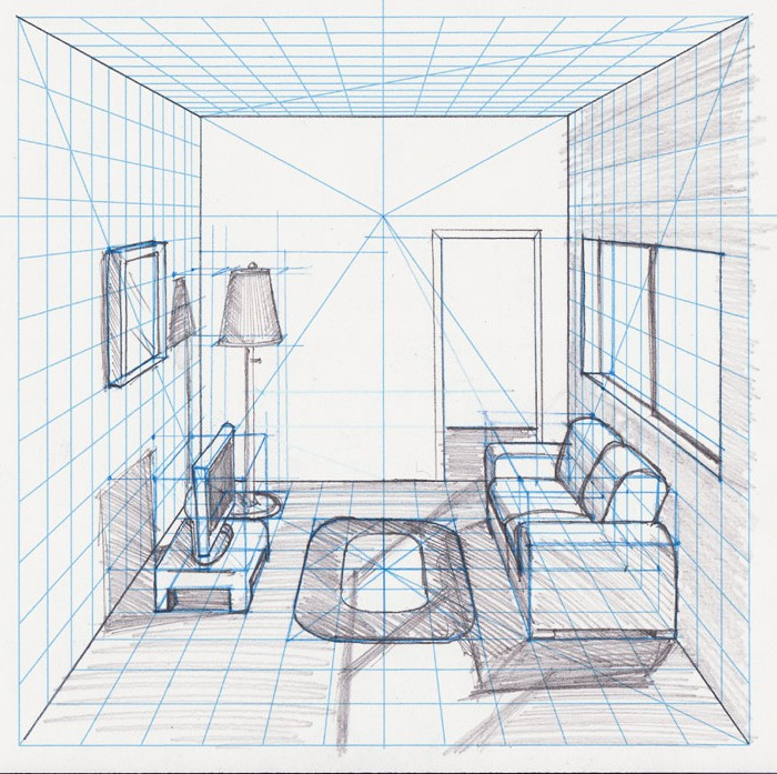 One Point Perspective Room Drawing At GetDrawings.com