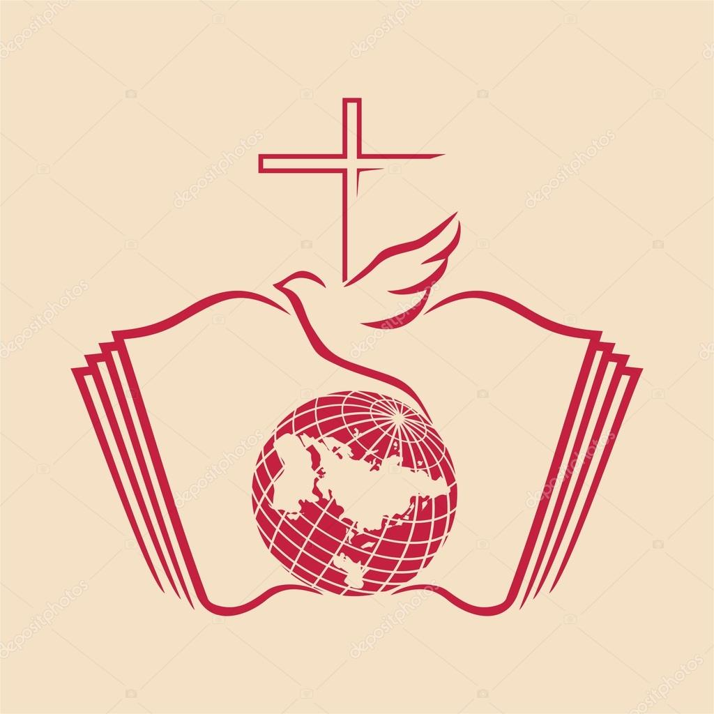 1024x1024 Dove, Cross, Globe, Open Bible, Icon Stock Vector Biblebox