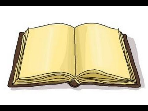 480x360 How To Draw An Open Book
