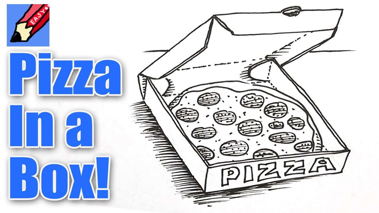 1280x720 How To Draw Pizza In A Box Real Easy